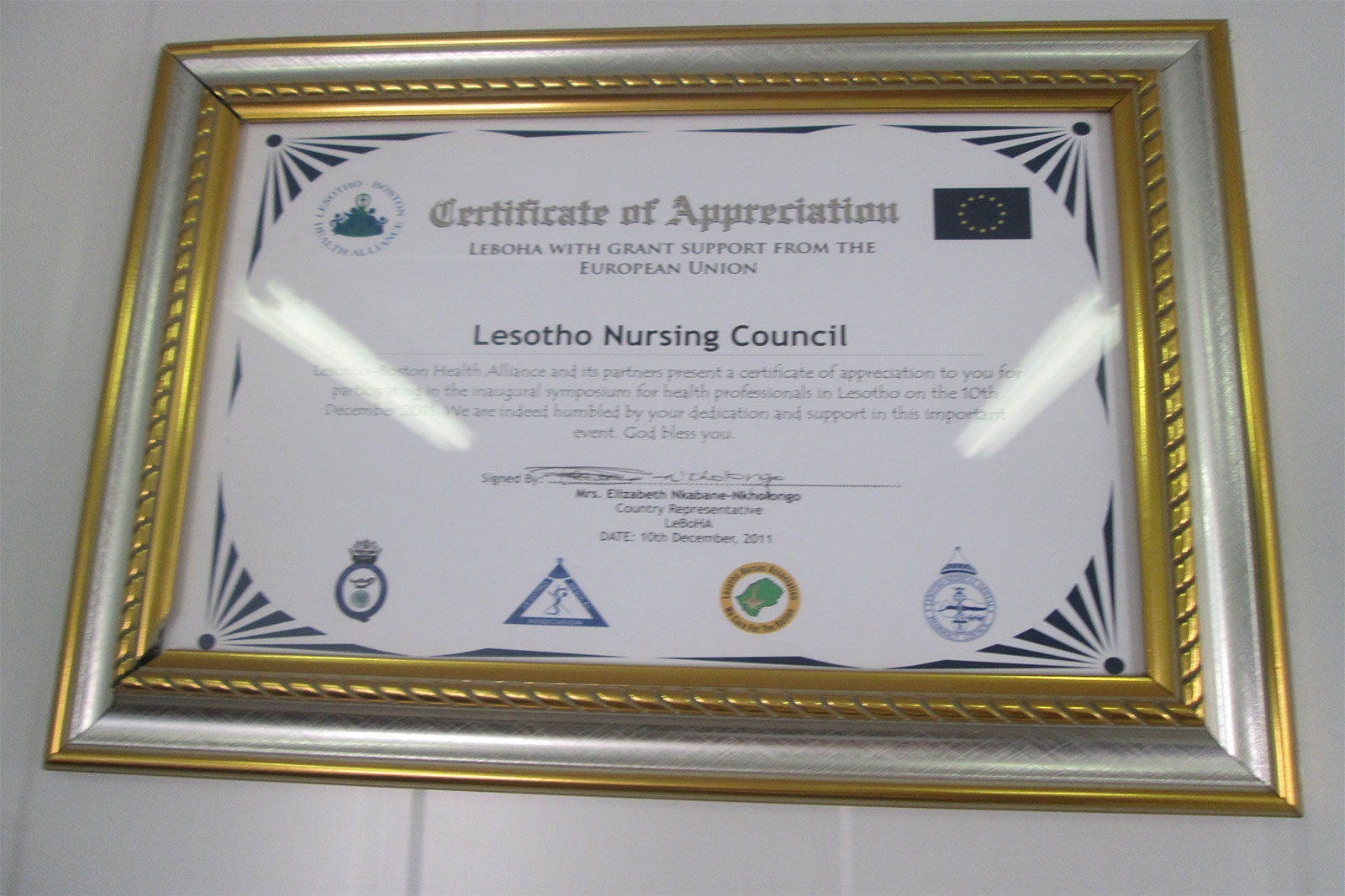 lesotho-nursing-council-certificate-of-appriciation